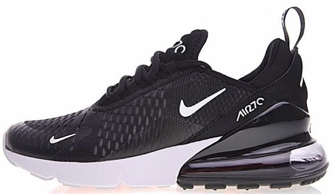 "Мужские кроссовки Nike Air Max 270 ""Black/White"" (Найк Аир Макс) черные"