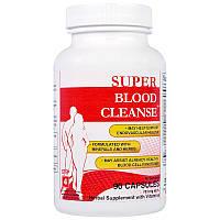 Health Plus Inc., Blood Cleanse, система комплексной очистки организма, Кровь 4 из 8, 90 капсул