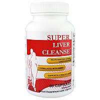 Health Plus Inc., Super Liver Cleanse, очистка печени, система полной очистки организма, Шаг 2, 90 капсул