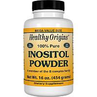 Инозитол, Inositol Powder, Healthy Origins, порошок, 454 г.