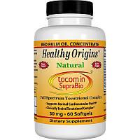 Витамин Е, Healthy Origins, 50 мг, 60 капсул