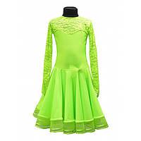 Рейтинговое платье для танцев салатовый