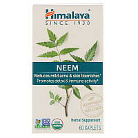 Ним, Neem, Himalaya Herbal Healthcare, 60 каплет.