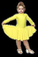 Рейтинговое платье для девочек жолтое