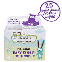 Салфетки для зубов и полости рта, Natural Baby Gum & Tooth Wipes, Jack n' Jill, 25 шт