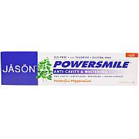 Зубной гель отбеливающий с мятой и содой, Whitening Gel, Jason Natural, 170 г