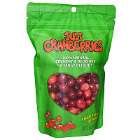 Karen's Naturals, Замороженная и обезвоженная клюква, Just Cranberries, 1.5 унций (42 г)