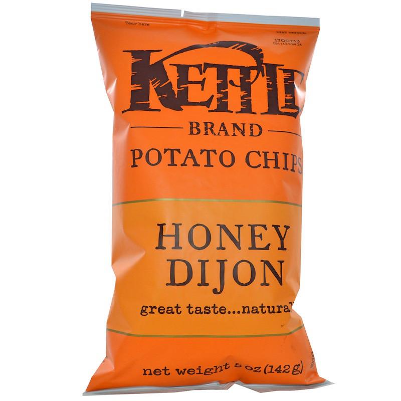 Kettle Foods, Картофельные чипсы, Honey Dijon, 142 г