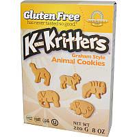 "Печенье из муки грубого помола ""животные"", без глютена (Cookies,Gluten Free), Kinnikinnick Foods, 220 г."