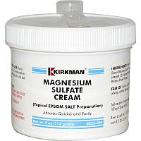 Сульфат магния, крем, Kirkman Labs, 113 г.