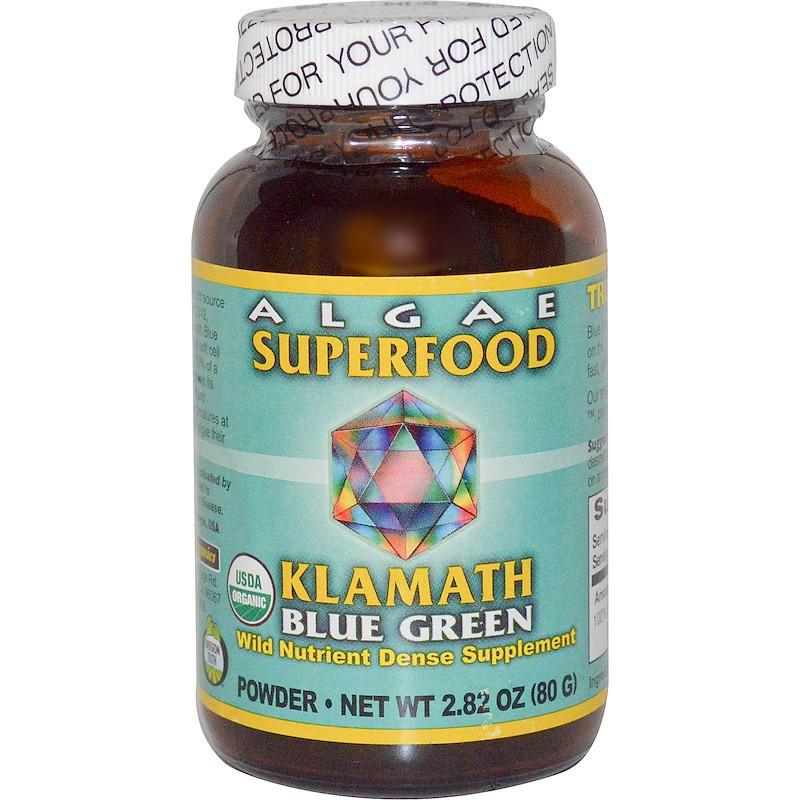 Сине-зеленые водоросли, Algae Superfood, Klamath, 80 г.