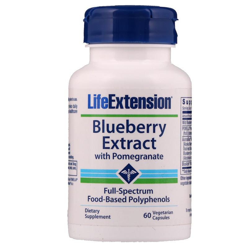 Экстракт голубики с гранатом, Life Extension, 60 капсул