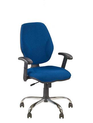 Крісло офісне Master GTR Ergo window механізм Active1 хрестовина CHR68, тканина З-6 (Новий Стиль ТМ), фото 2