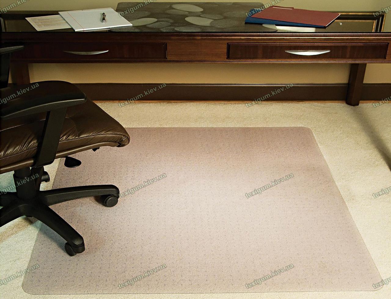Защитный ковер под кресло прозрачный 122х123см. для ковролина Германия, толщина 5,0мм