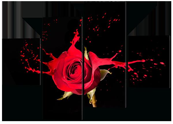 Модульная картина Роза в стиле