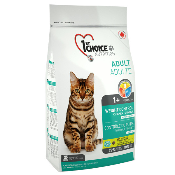 Сухой корм для взрослых котов 1st Choice Adult Weight Control с курицей 2,72 кг