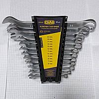 Набор ключей рожково накидных CrV 6-22мм 12шт