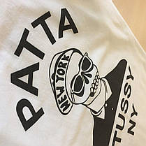 Футболка Stussy Patta collab | Бирки на фото | Белая мужская качественная реплика, фото 2