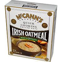 McCann's Irish Oatmeal, Быстрое приготовление, прокатанные овсяные хлопья, 16 унций (454 г)