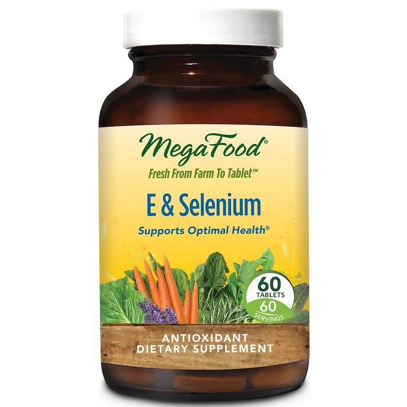 Селен с витамином Е (E Selenium), MegaFood, 60 таблеток