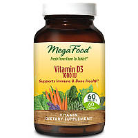 Витамин Д3, MegaFood, 1000 МЕ, 60 таблеток