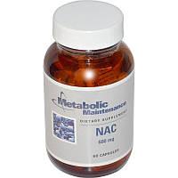 NAC, Metabolic Maintenance, 600 мг, 60 капсул