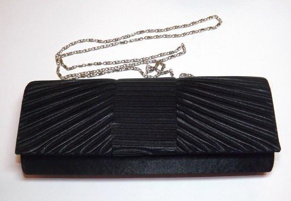 6cf71cdc98b9 Сумка-клатч, ткань, черная, 25х9,5 см, цена 99,80 грн., купить в ...