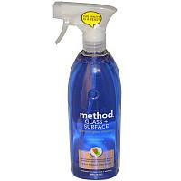 Натуральное средство для чистки стекла, Glass + Surface, Method, 828 мл