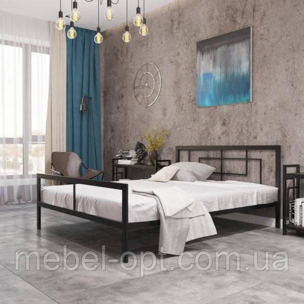 Кровать Квадро 80х200 см Металл-Дизайн, стиль Лофт