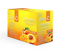 Шипучий Порошковый Витаминный Напиток, Вкус Персика и Манго, Vitamin C, Ener-C,  пакетиков