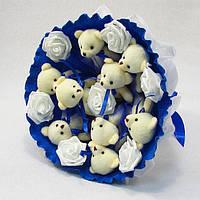 Букет из игрушек Мишки 9 Синий, фото 1