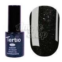 Гель-лак Tertio №054 (черно-зеленый, микроблеск), 10 мл