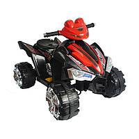 Детский квадроцикл на аккумуляторе черный деткам 3-8 лет