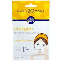 Miss Spa, Зарядитесь энергией, 1 предварительно обработанная салфетка для маски на лицо