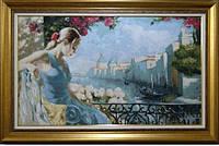 "Гобеленовая картина ""Девушка на балконе"" 633Д-6"