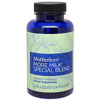 Motherlove, More Milk, Специальный состав, 120 растительных жидких капслул