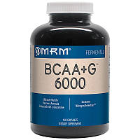 BCAA + L-глутамин 6000, BCAA + G, MRM, 150 капсул