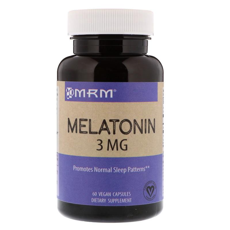 MRM, Мелатонин, 3 мг, 60 вегетарианских капсул