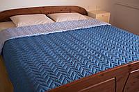 Покрывало на кровать микрофибра BLUE 180х215смТМ Прованс