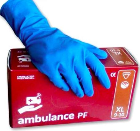 Латексные перчатки Ambulance