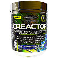 Креатин, взрыв синей малины, Creactor, Muscletech, 264 гр.