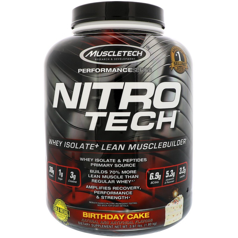 Сывороточный протеин, ванильный деньрожденный торт, Muscletech, 1.80 кг.
