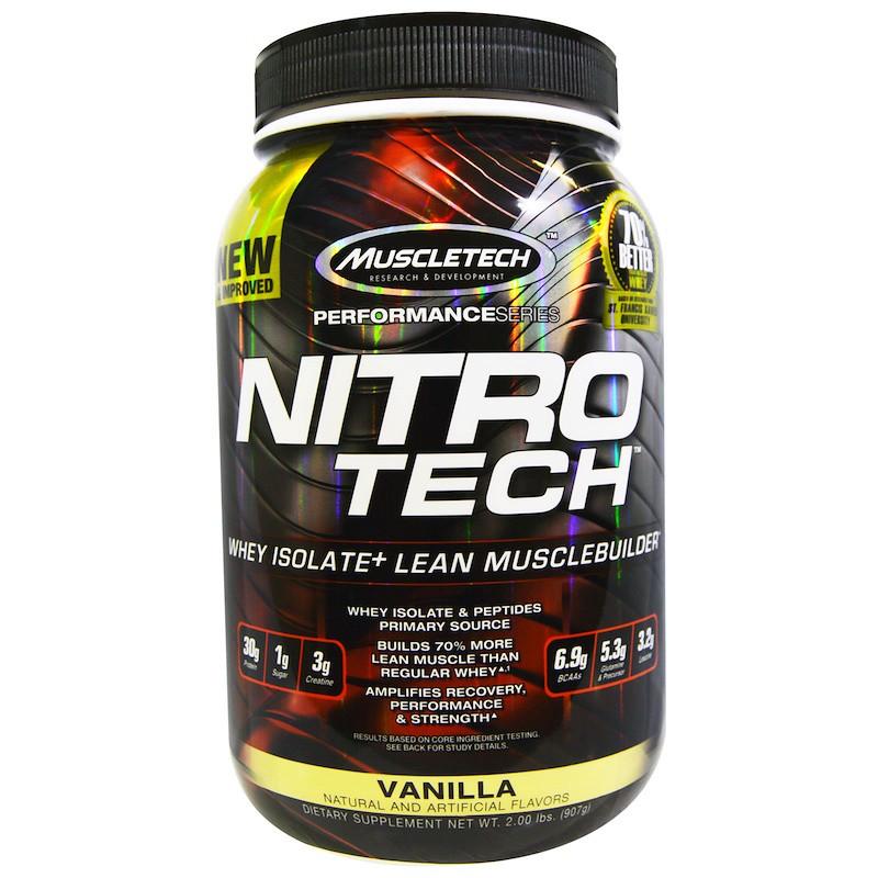 Сывороточный протеин, ваниль, Muscletech, 907 гр.