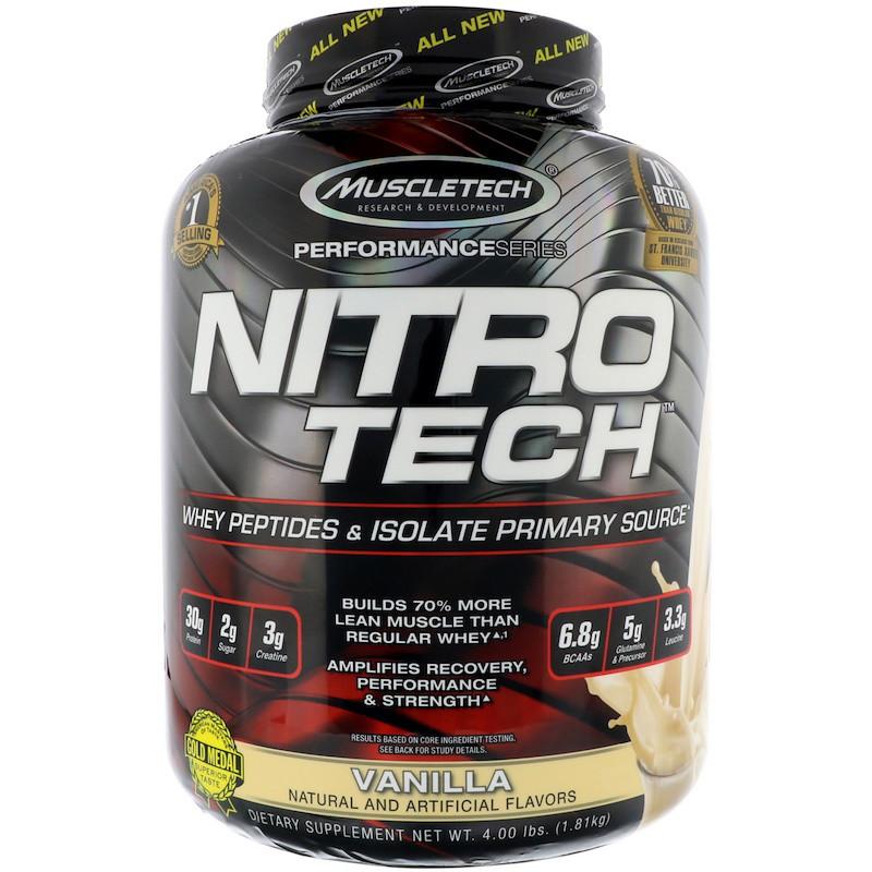 Сывороточный протеин, ваниль, Nitro-Tech, Muscletech, 1.80 кг.