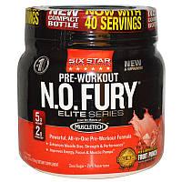 Six Star, Six Star Pro Nutrition, N.O. Fury, предтренировочный комплекс, элитная серия, 1.2 фунта (544 г) (Discontinued Item)