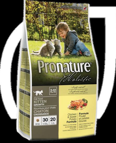 Сухий корм для кошенят Pronature Holistic Kitten з куркою і бататом 5,44 кг