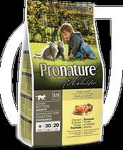 Сухой корм для котят Pronature Holistic Kitten с курицей и бататом 340 гр