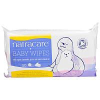 Natracare, Детские салфетки из органического хлопка, 50 салфеток