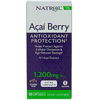 Асаи (супер), Natrol, 1.200 мг, 60 капсул