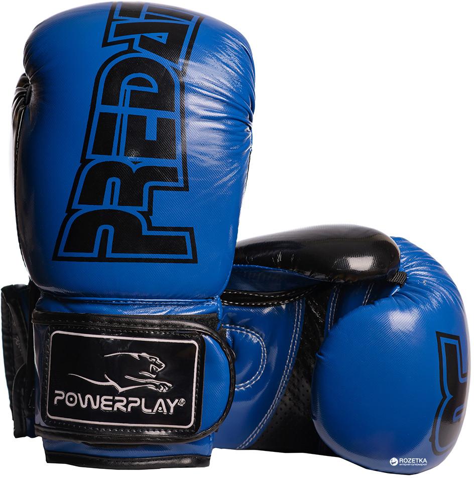 Перчатки боксерские Powerplay / 3017 / PU / 12oz BLUE